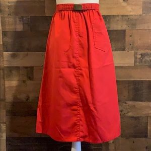 Vintage 1980s Sasson Red Midi Length A line skirt